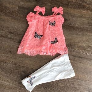 24M Lace Butterfly Outfit- Nicole Miller New York
